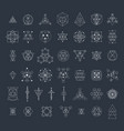 Sacred geometry signs collection vector image