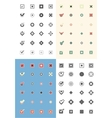 Large set of flat buttons colorful check marks and vector image