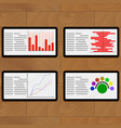 tablets with statistical marketing vector image
