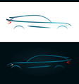 concept design blue car silhouette vector image vector image