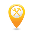 tools icon yellow map pointer vector image