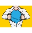 Disguised comic book superhero vector image