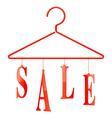 Sale hanger vector image
