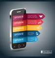 isometric mobile for infographic vector image