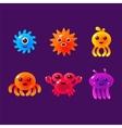 Cartoon Sea Animals Marine Life Colorful vector image