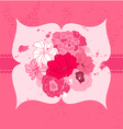 romantic flower card vector image vector image