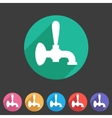 Beer tap icon flat web sign symbol logo label vector image