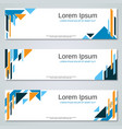 abstract colorful banners templates vector image