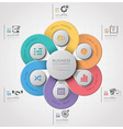 Business Infographic With Weaving Curve Circle vector image