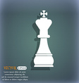 Chess king icon On the blue-green abstract vector image