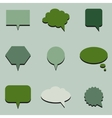Green communication bubbles vector image
