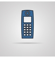Old mobile phone vector image