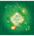 patrick day background 380 vector image