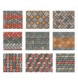 Seamless stone tiles pavement set vector image