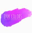 purple pink ink splash vector image