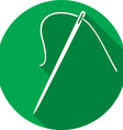 Sewing Needle and Thread Icon vector image
