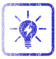 electric light bulb framed textured icon vector image