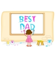 Girl painting Best Dad vector image