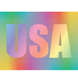 hologram with USA vector image