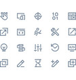 Developer icons Line series vector image