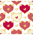 Valentine seamless white pattern vector image vector image