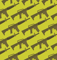 Automatic gun seamless pattern Military background vector image