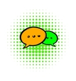 Speach bubles icon comics style vector image