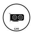 GPU icon vector image vector image
