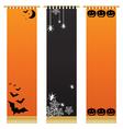 halloween wall hangings vector image vector image