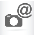camera with e mail symbol icon vector image