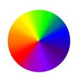 circular gradient rainbow round color vector image