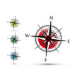 colourful compass set vector image