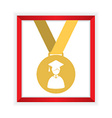 First Class Honors Gold Medal Graduation vector image