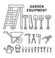garden equpment icons vector image