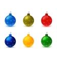 Set of Christmas Tree Colored Balls vector image