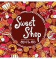 Sweet Shop Background vector image