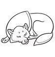 wild wolf sleep peacefully vector image