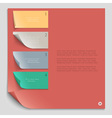 Paper design template for website layout vector image