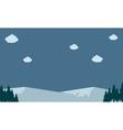 mountain snow landscape backgrounds vector image