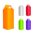 Color juice packs vector image