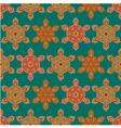 Colorful hexagon mandala seamless pattern vector image