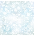 frosty winter background vector image