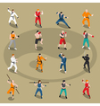 Martial Arts Isometric People Set vector image