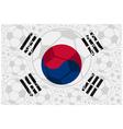 South Korea soccer balls vector image