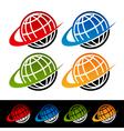 Swoosh Earth Logo Icons vector image