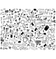 Seamless doodle web pattern vector image