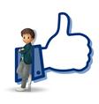 boy and thumb vector image vector image