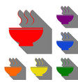 soup sign set of red orange yellow green blue vector image