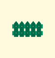 classic wooden fence icon vector image
