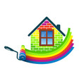 paint roller home design vector image